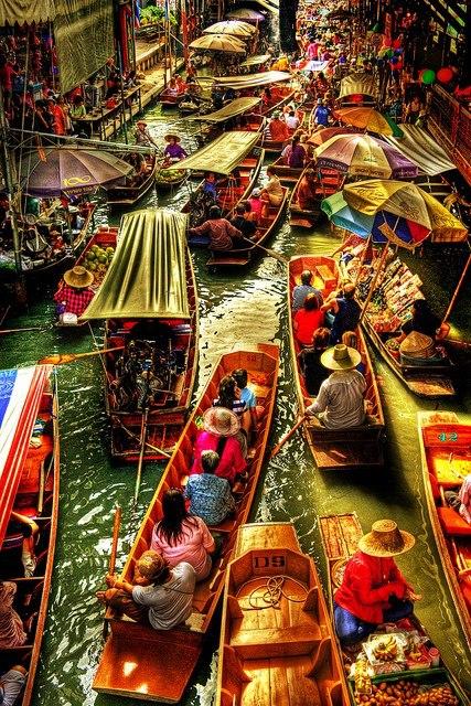 Damneon Saduak Canal Thailand Worlds Beautiful Places