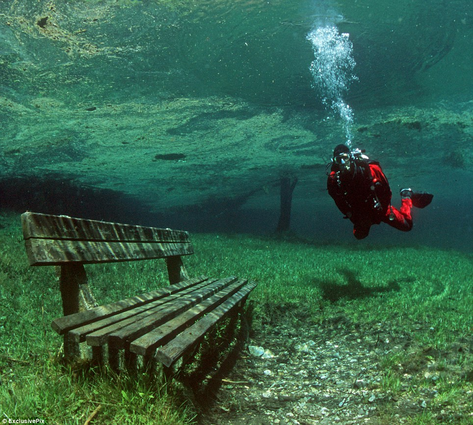 Beautiful Places Underwater: The Green Lake, Austria « Worlds Beautiful Places